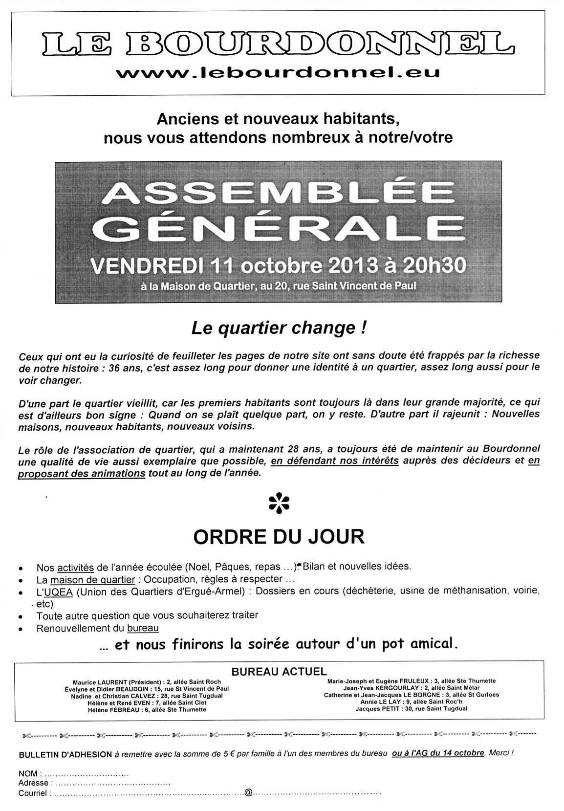 Ag 2013 - Assemblee generale association renouvellement bureau ...